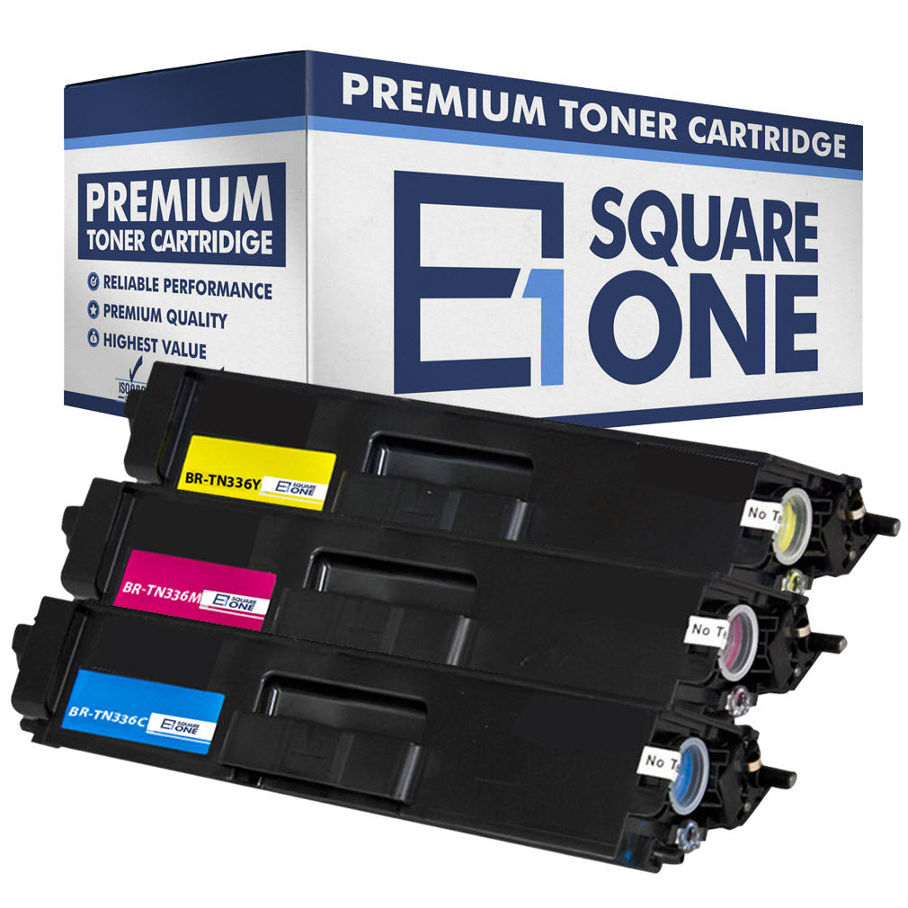 eSquareOne Compatible High Yield Toner Cartridge Replacement for Brother TN336C TN331C TN336M TN331M TN336Y TN331Y (Cyan, Magenta, Yellow)