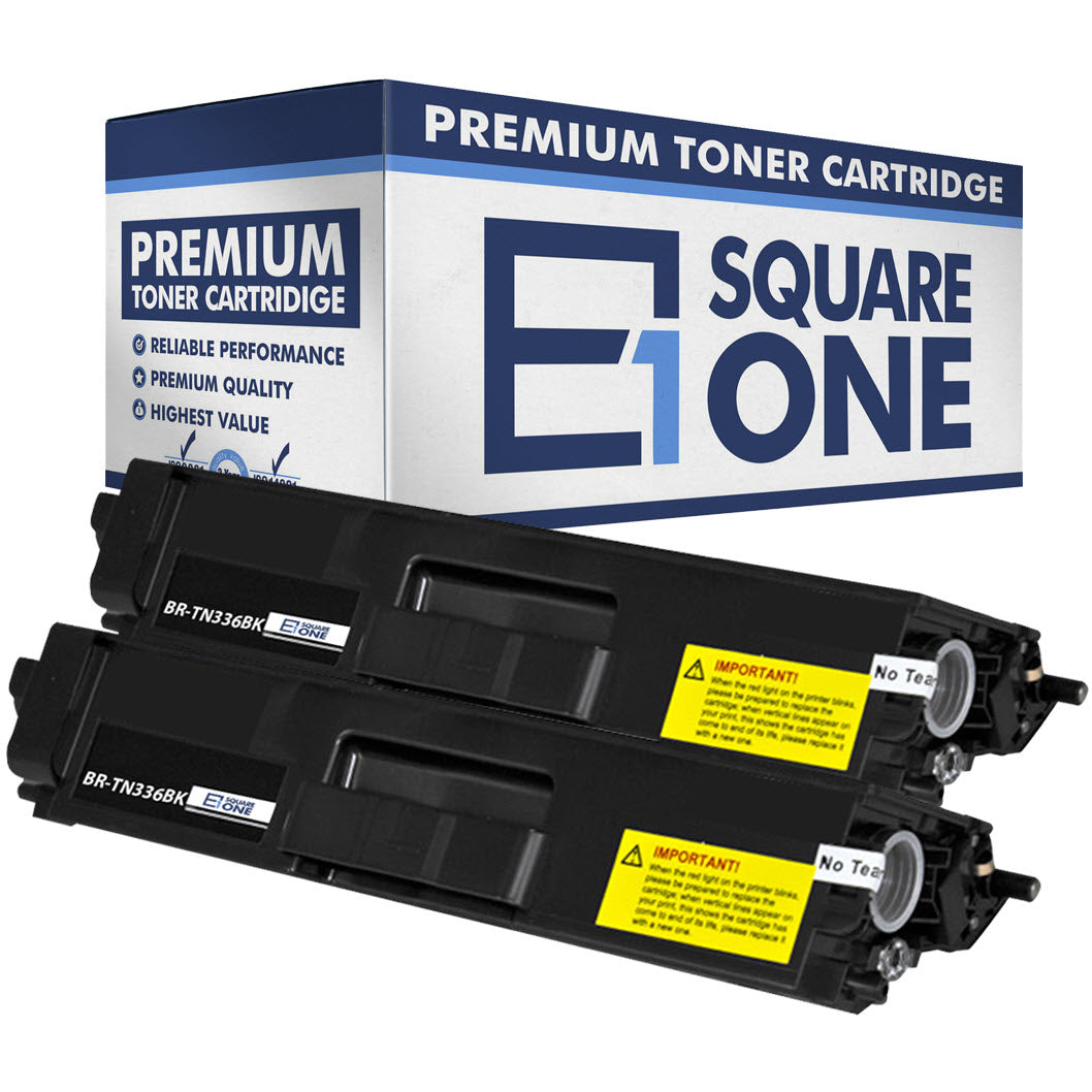 eSquareOne Compatible High Yield Toner Cartridge Replacement for Brother TN336BK TN331BK (Black, 2-Pack)
