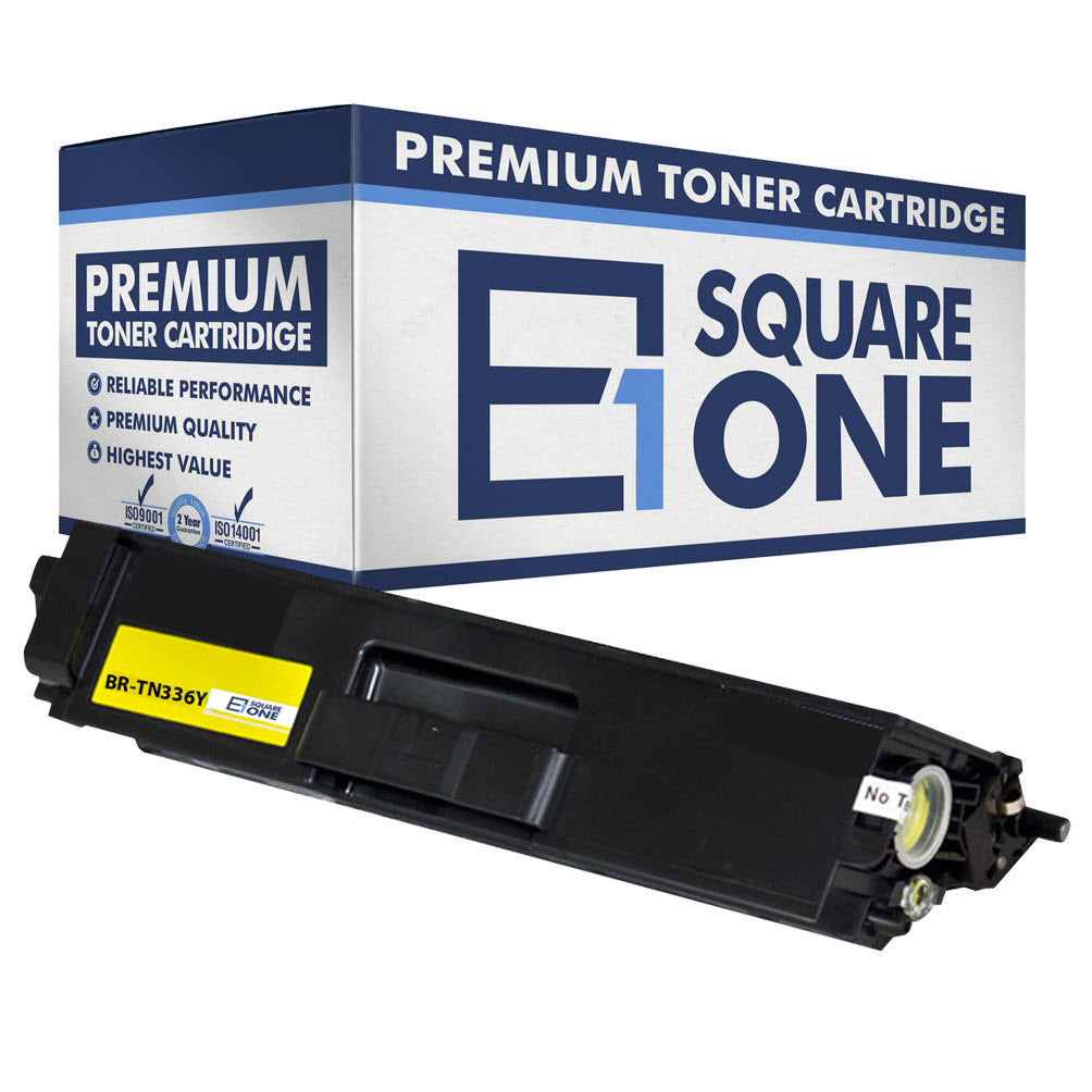 eSquareOne Compatible High Yield Toner Cartridge Replacement for Brother TN336Y TN331Y (Yellow, 1-Pack)