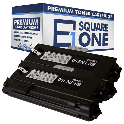 eSquareOne Compatible High Yield Toner Cartridge Replacement for Brother TN350 (Black, 2-Pack)