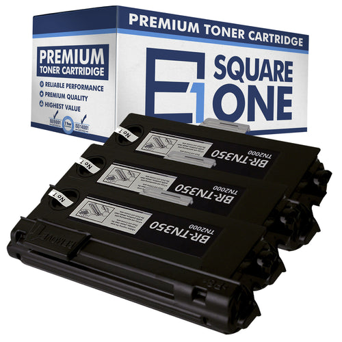 eSquareOne Compatible High Yield Toner Cartridge Replacement for Brother TN350 (Black, 3-Pack)