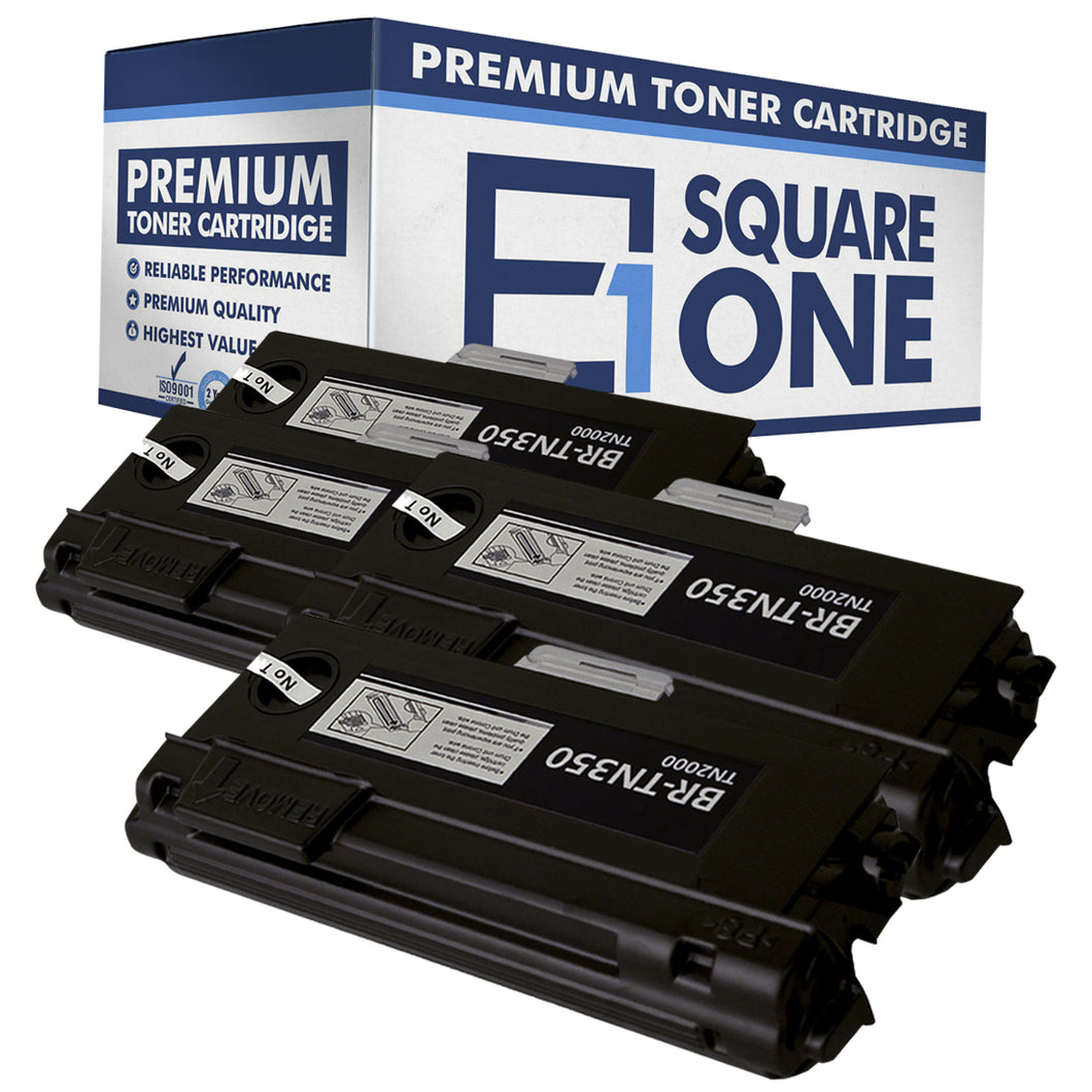 eSquareOne Compatible High Yield Toner Cartridge Replacement for Brother TN350 (Black, 4-Pack)