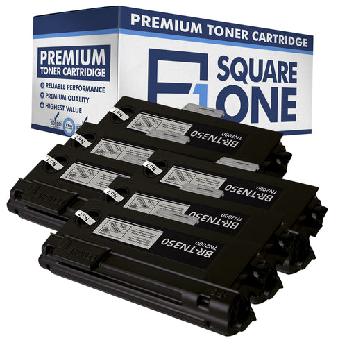 eSquareOne Compatible High Yield Toner Cartridge Replacement for Brother TN350 (Black, 6-Pack)