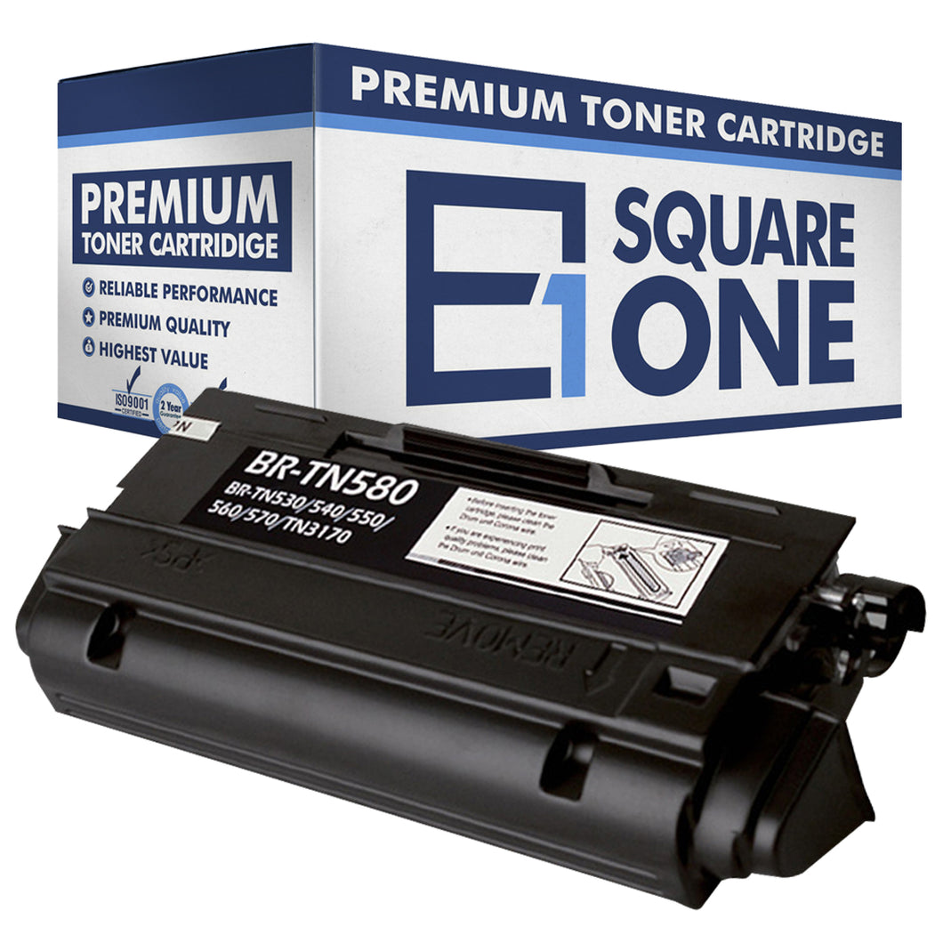 eSquareOne Compatible High Yield Toner Cartridge Replacement for Brother TN530 TN540 TN550 TN560 TN570 TN580 (Black, 1-Pack)