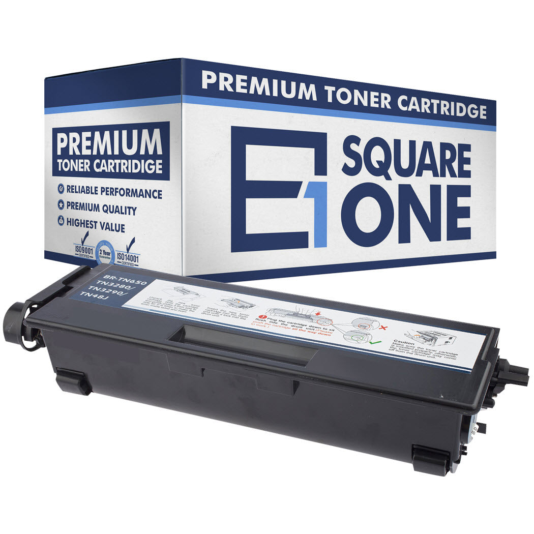 eSquareOne Compatible High Yield Toner Cartridge Replacement for Brother TN650 TN620 (Black, 1-Pack)
