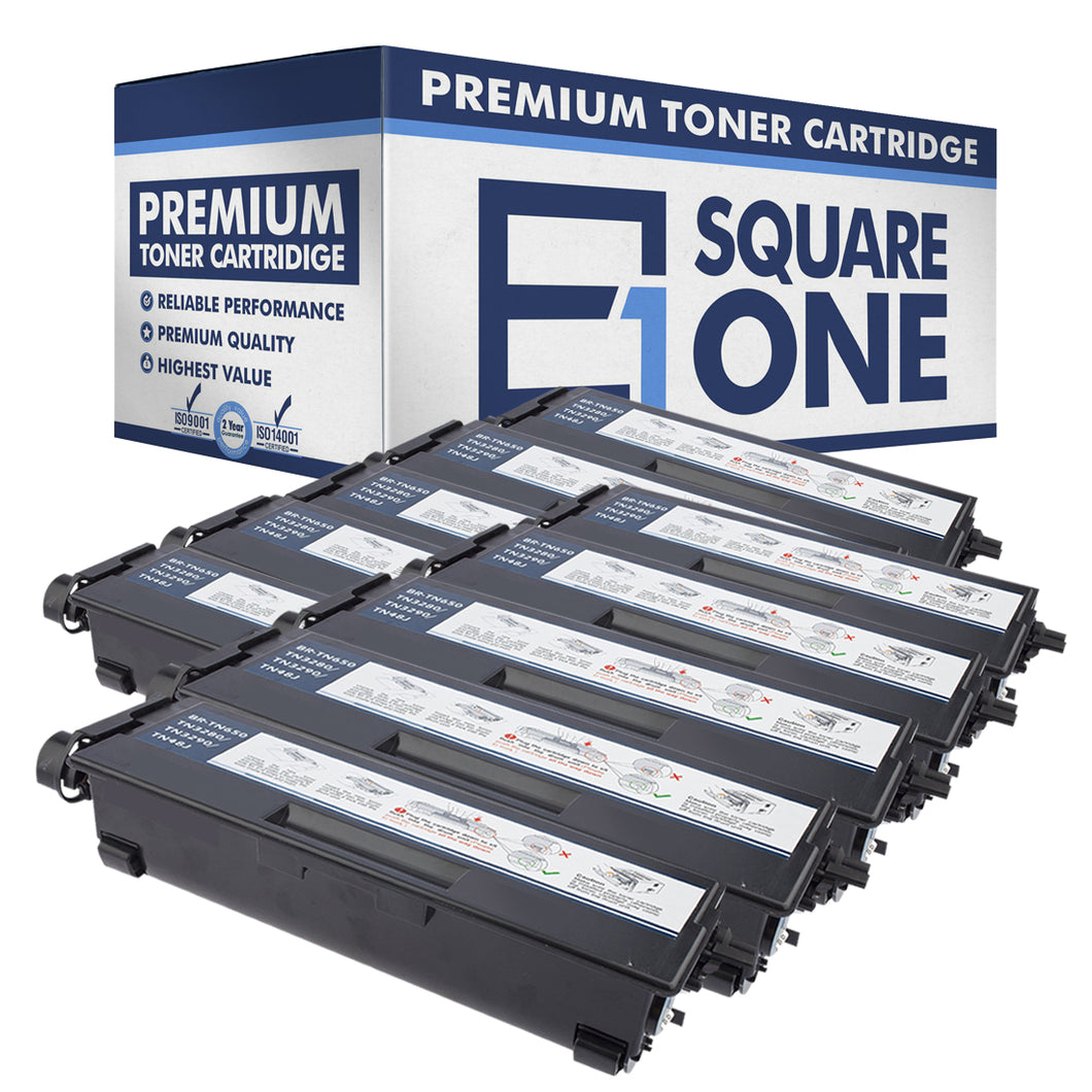 eSquareOne Compatible High Yield Toner Cartridge Replacement for Brother TN650 TN620 (Black, 10-Pack)