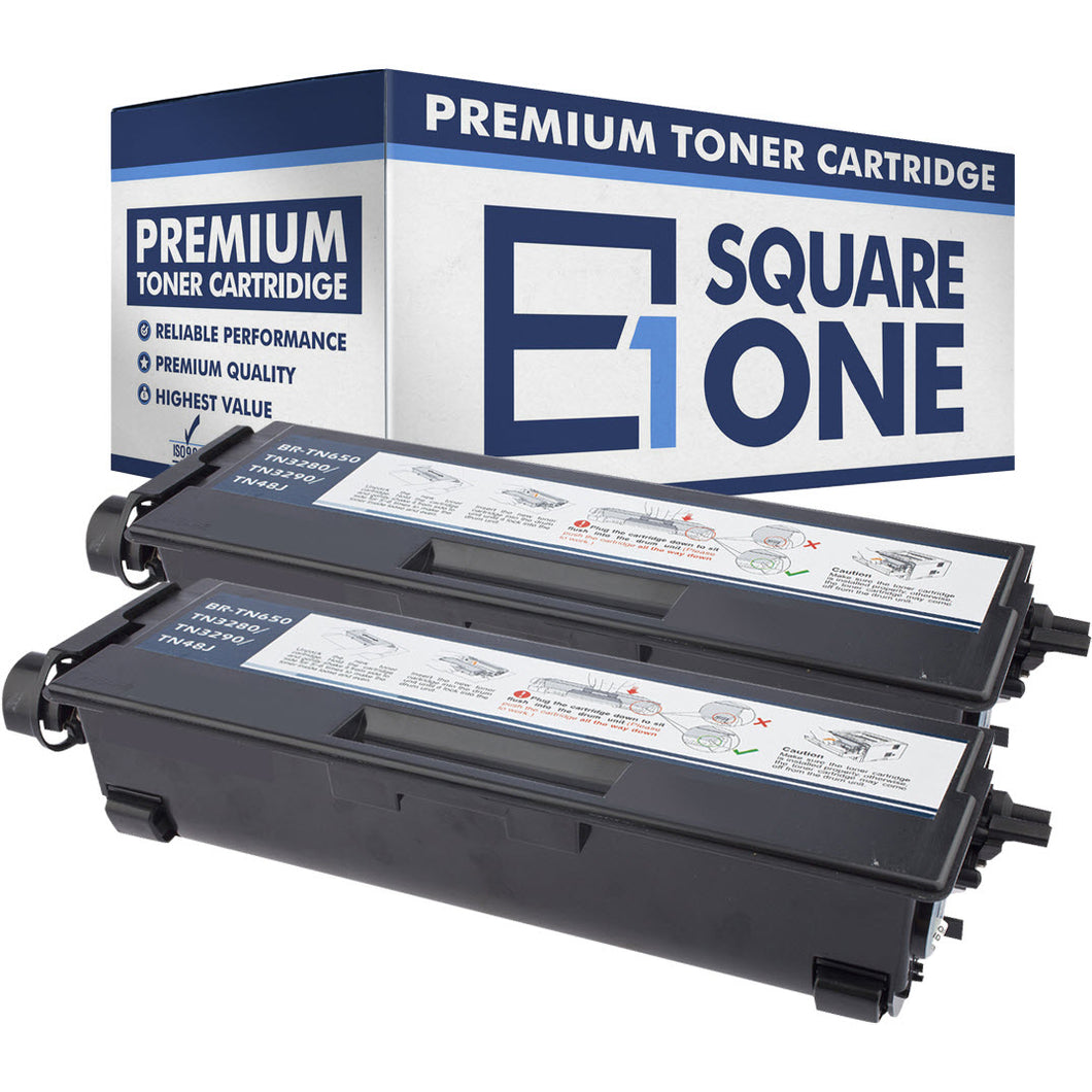eSquareOne Compatible High Yield Toner Cartridge Replacement for Brother TN650 TN620 (Black, 2-Pack)