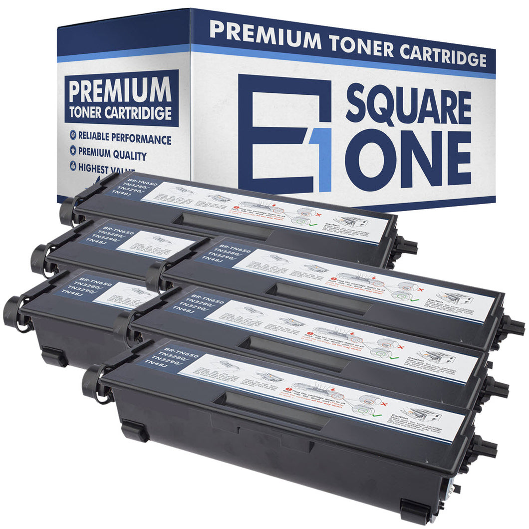 eSquareOne Compatible High Yield Toner Cartridge Replacement for Brother TN650 TN620 (Black, 6-Pack)