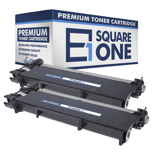 eSquareOne Compatible High Yield Toner Cartridge Replacement for Brother TN660 TN630 (Black, 2-Pack)