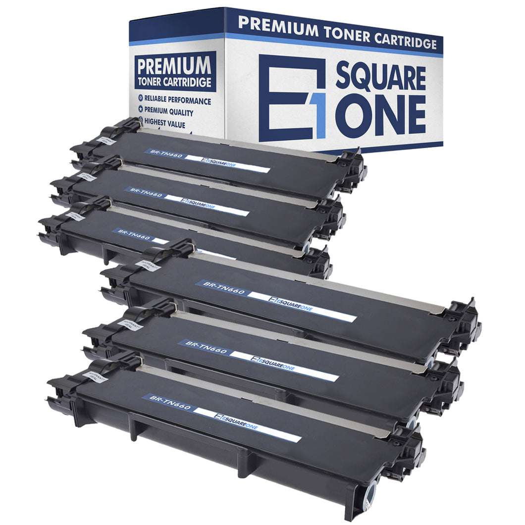 eSquareOne Compatible High Yield Toner Cartridge Replacement for Brother TN660 TN630 (Black, 6-Pack)