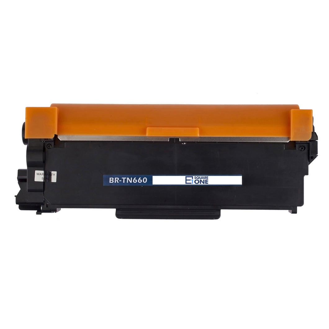 eSquareOne Compatible High Yield Toner Cartridge Replacement for Brother TN660 TN630 Black, 1-Pack