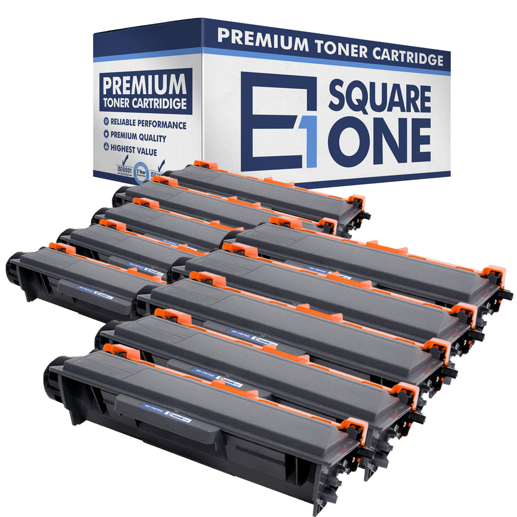 eSquareOne Compatible High Yield Toner Cartridge Replacement for Brother TN750 TN720 (Black, 10-Pack)
