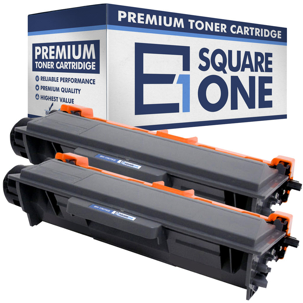 eSquareOne Compatible High Yield Toner Cartridge Replacement for Brother TN750 TN720 (Black, 2-Pack)
