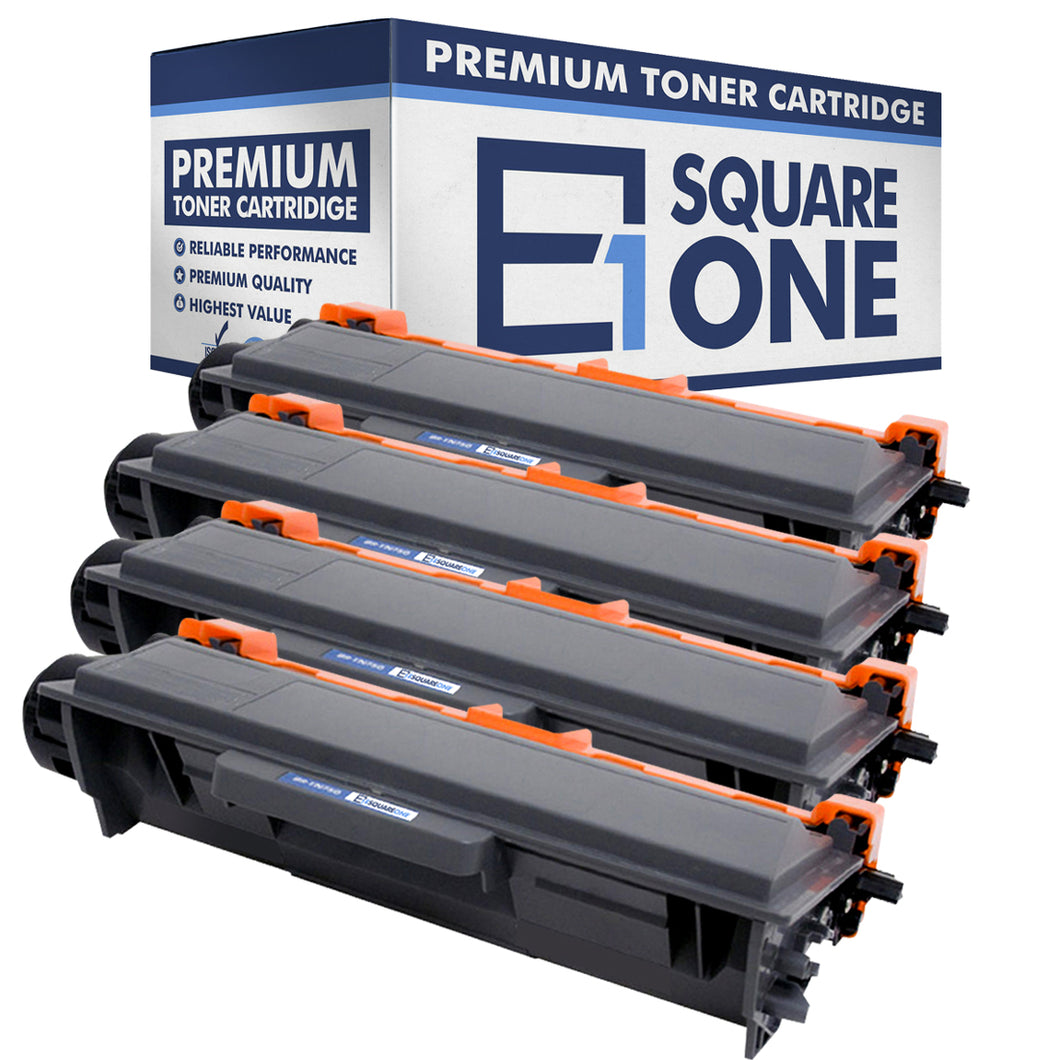 eSquareOne Compatible High Yield Toner Cartridge Replacement for Brother TN750 TN720 (Black, 4-Pack)
