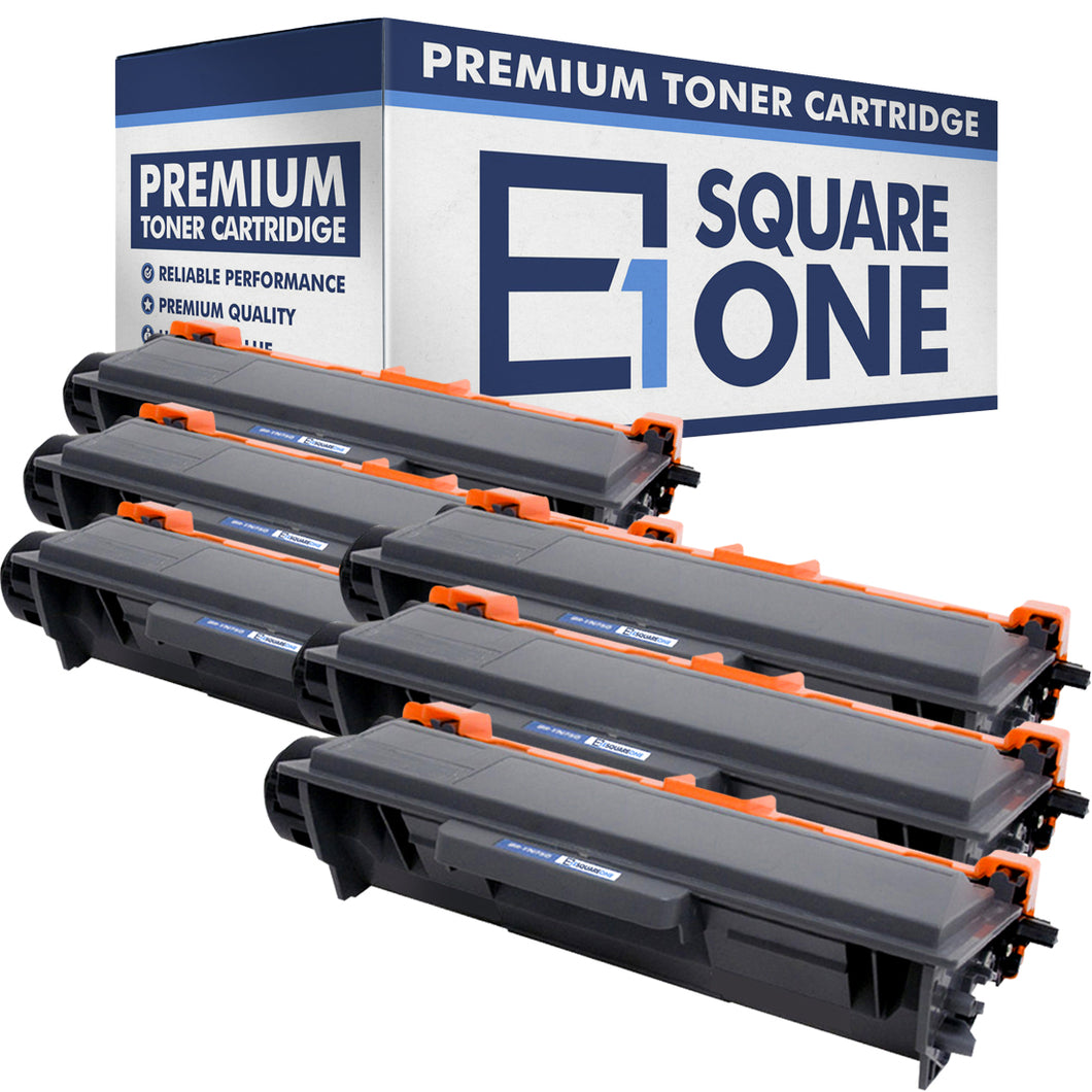 eSquareOne Compatible High Yield Toner Cartridge Replacement for Brother TN750 TN720 (Black, 6-Pack)