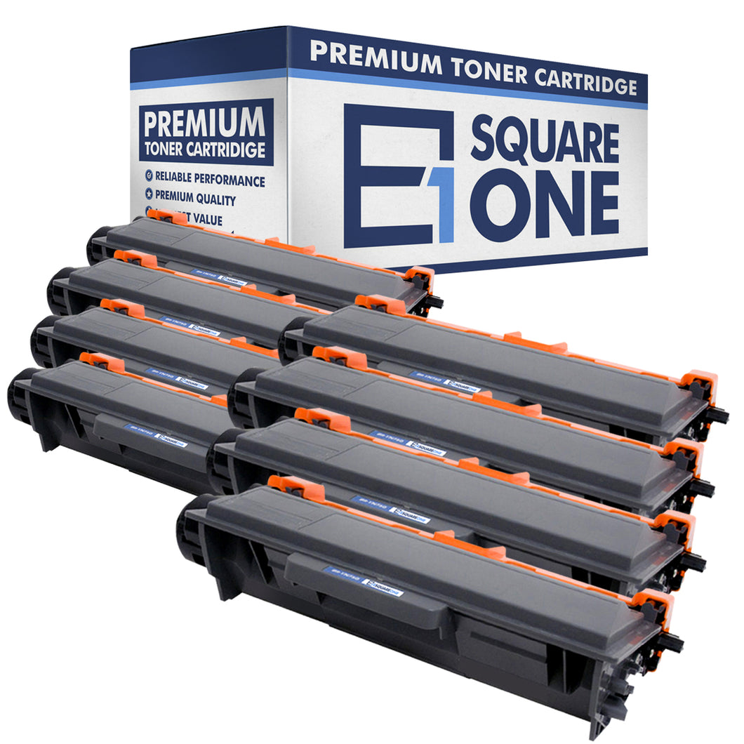 eSquareOne Compatible High Yield Toner Cartridge Replacement for Brother TN750 TN720 (Black, 8-Pack)