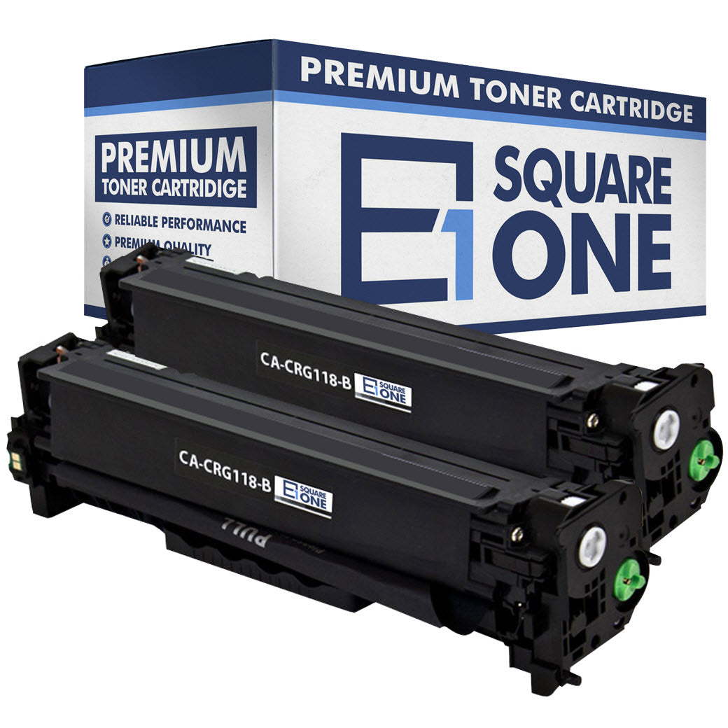 eSquareOne Compatible Toner Cartridge Replacement for Canon 118 (CRG-118) 2662B001AA (Black, 2-Pack)