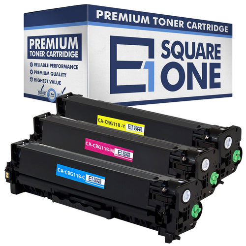 eSquareOne Compatible Toner Cartridge Replacement for Canon 118 (CRG-118) 2661B001AA 2660B001AA 2659B001AA (Cyan, Magenta, Yellow)
