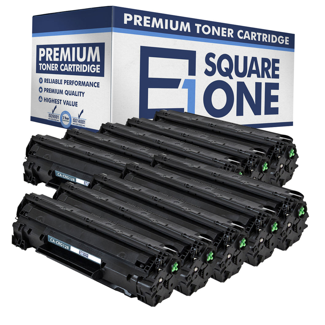 eSquareOne Compatible Toner Cartridge Replacement for Canon 128 3500B001AA (Black, 10-Pack)