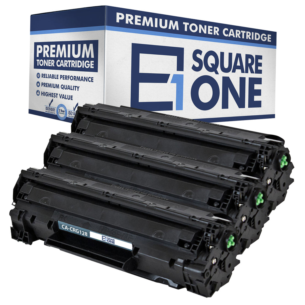 eSquareOne Compatible Toner Cartridge Replacement for Canon 128 3500B001AA (Black, 3-Pack)