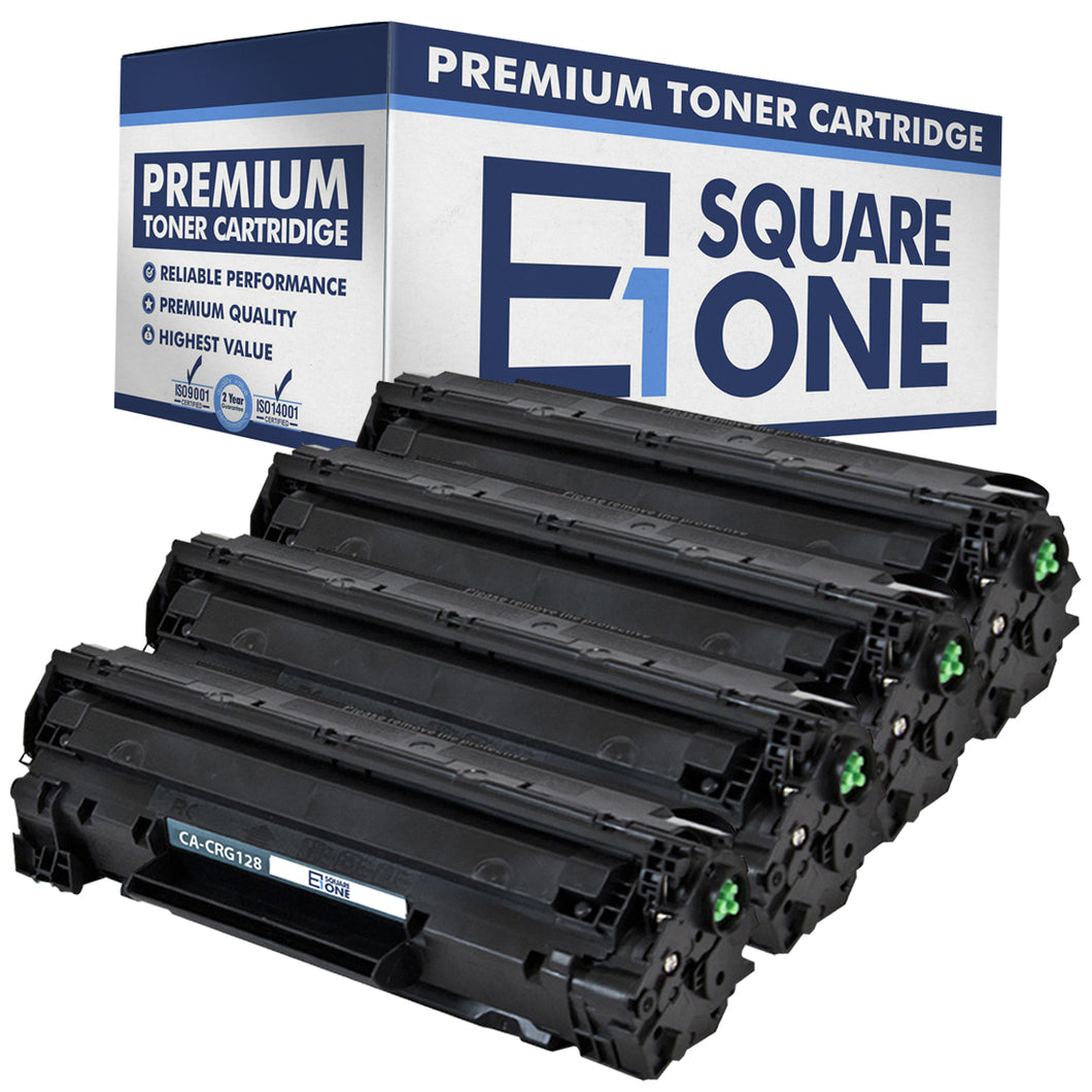 eSquareOne Compatible Toner Cartridge Replacement for Canon 128 3500B001AA (Black, 4-Pack)