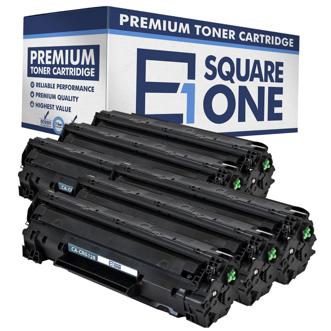 eSquareOne Compatible Toner Cartridge Replacement for Canon 128 3500B001AA (Black, 6-Pack)