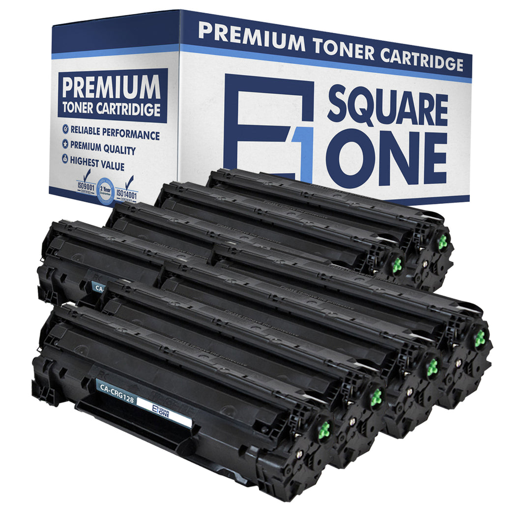 eSquareOne Compatible Toner Cartridge Replacement for Canon 128 3500B001AA (Black, 8-Pack)