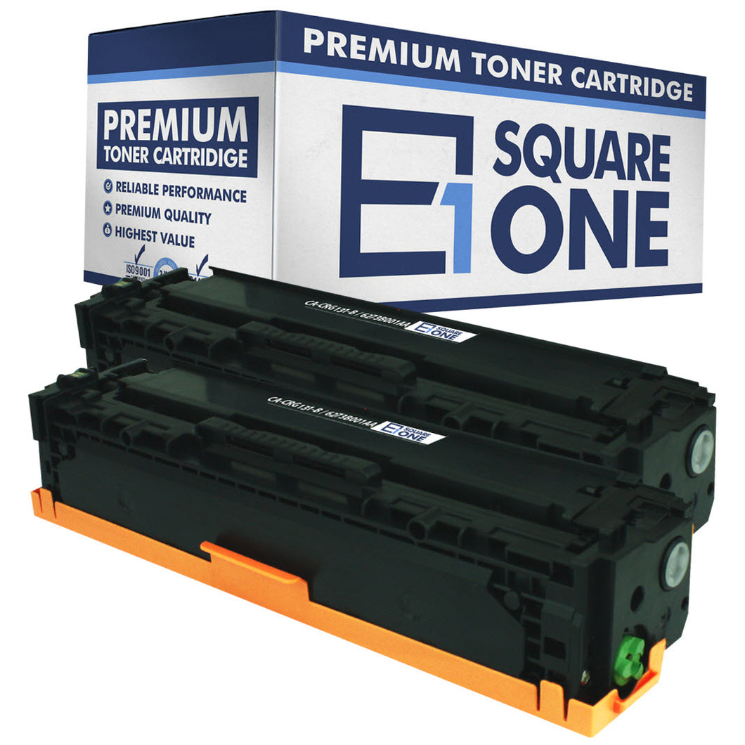 eSquareOne Compatible High Yield Toner Cartridge Replacement for Canon 131H 6273B001AA (Black, 2-Pack)
