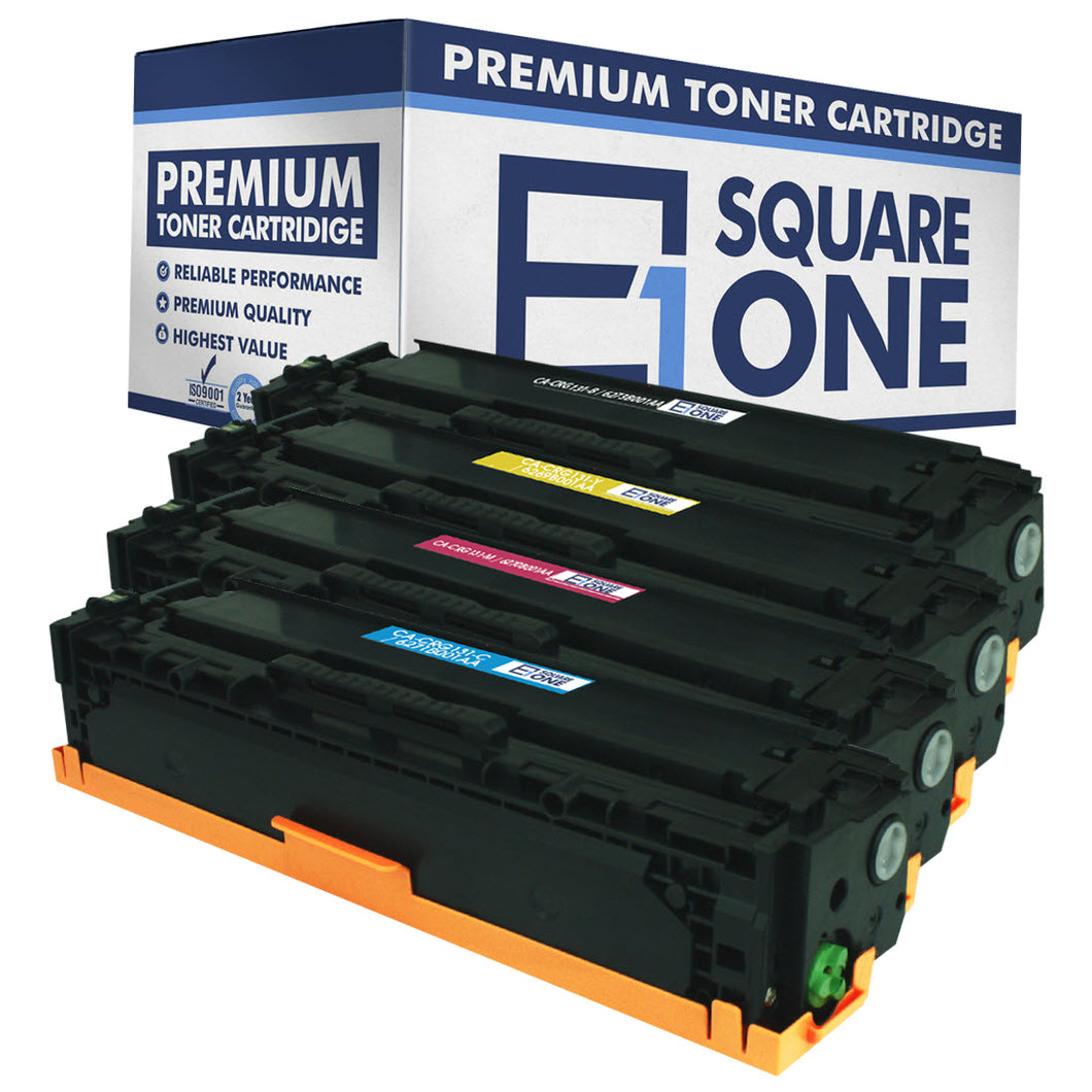 eSquareOne Compatible High Yield Toner Cartridge Replacement for Canon 131H 6273B001AA 6271B001AA 6270B001AA 6269B001AA (Black, Cyan, Magenta, Yellow)