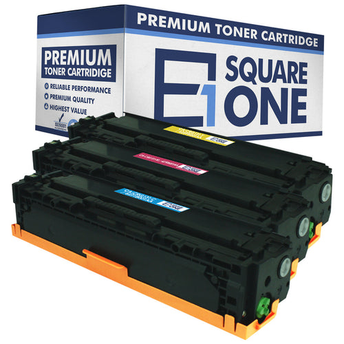 eSquareOne Compatible Toner Cartridge Replacement for Canon 131H 6271B001AA 6270B001AA 6269B001AA (Cyan, Magenta, Yellow)
