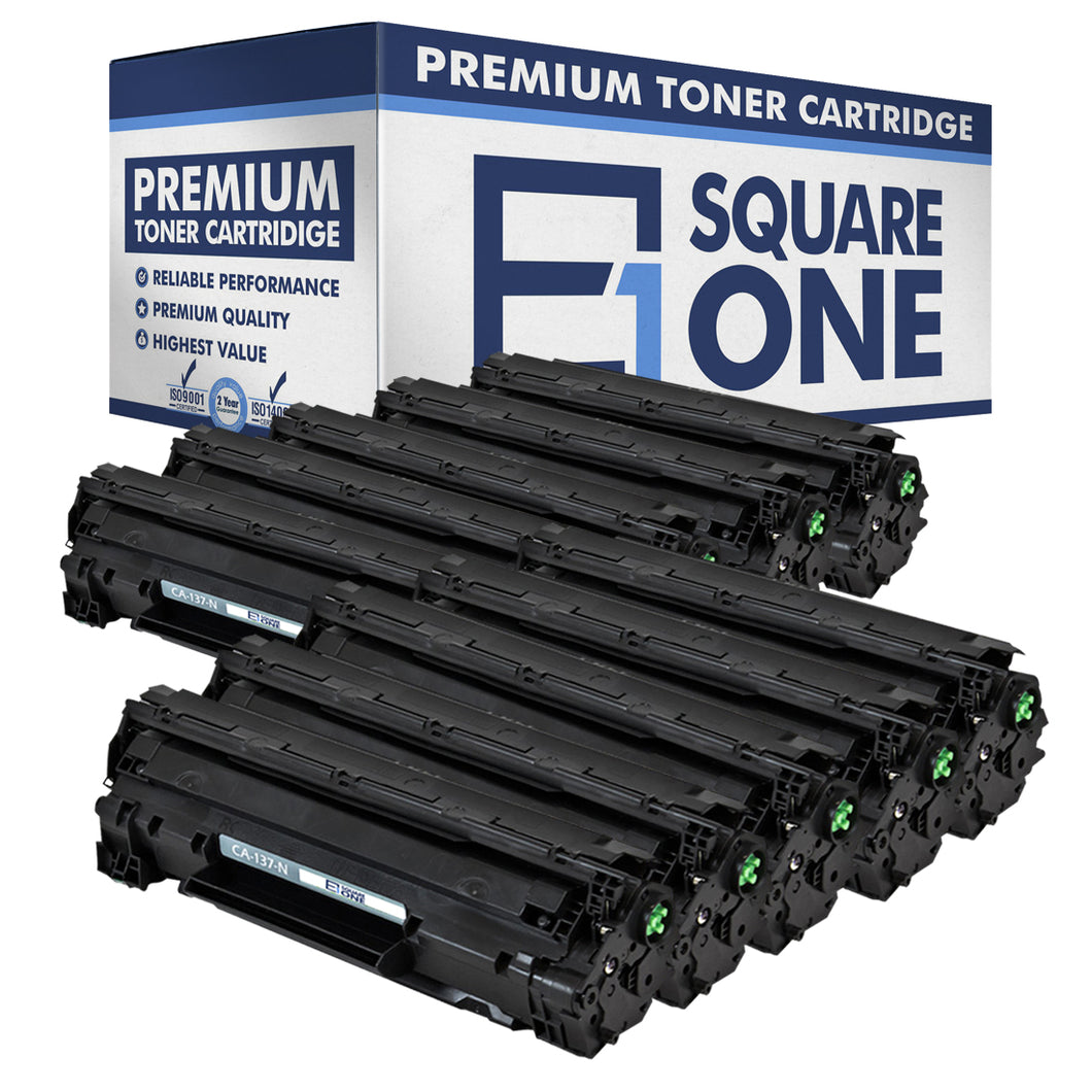 eSquareOne Compatible Toner Cartridge Replacement for Canon 137 9435B001AA (Black, 10-Pack)