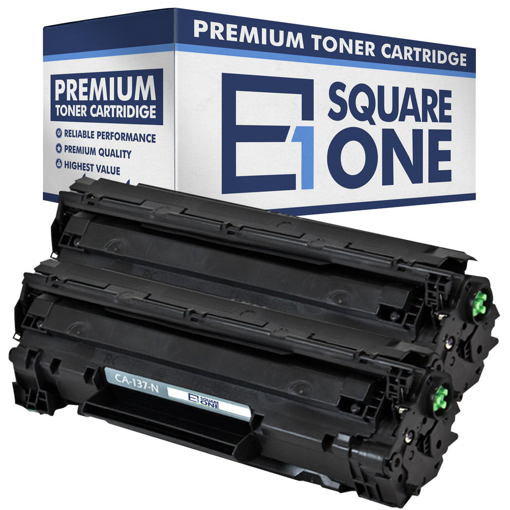 eSquareOne Compatible Toner Cartridge Replacement for Canon 137 9435B001AA (Black, 2-Pack)