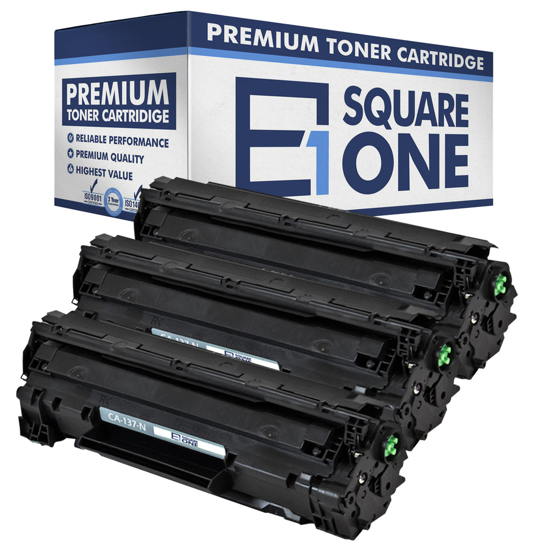 eSquareOne Compatible Toner Cartridge Replacement for Canon 137 9435B001AA (Black, 3-Pack)