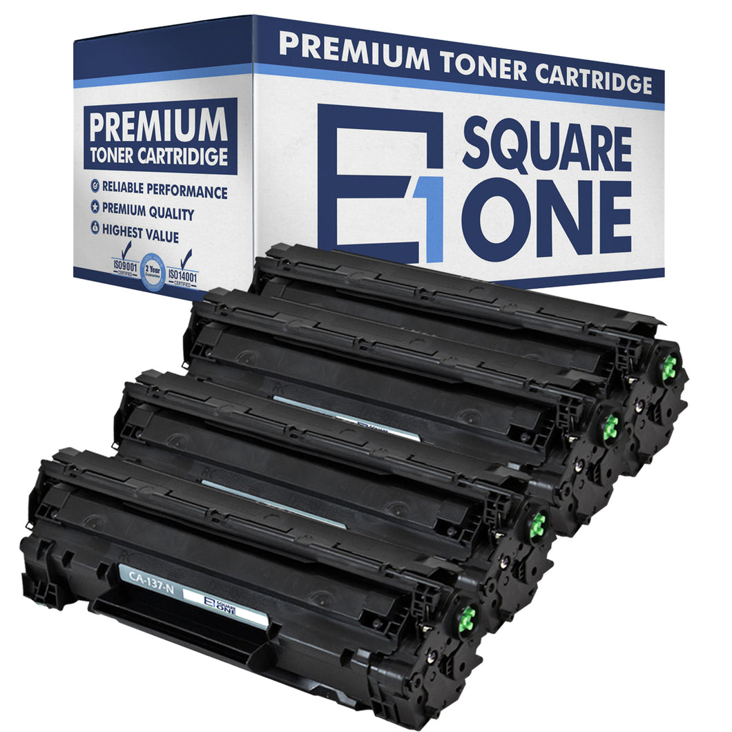 eSquareOne Compatible Toner Cartridge Replacement for Canon 137 9435B001AA (Black, 4-Pack)