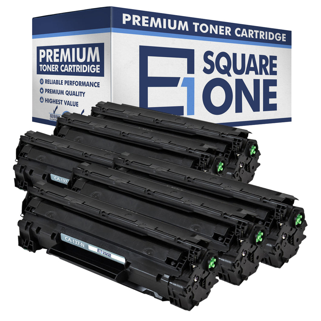 eSquareOne Compatible Toner Cartridge Replacement for Canon 137 9435B001AA (Black, 6-Pack)