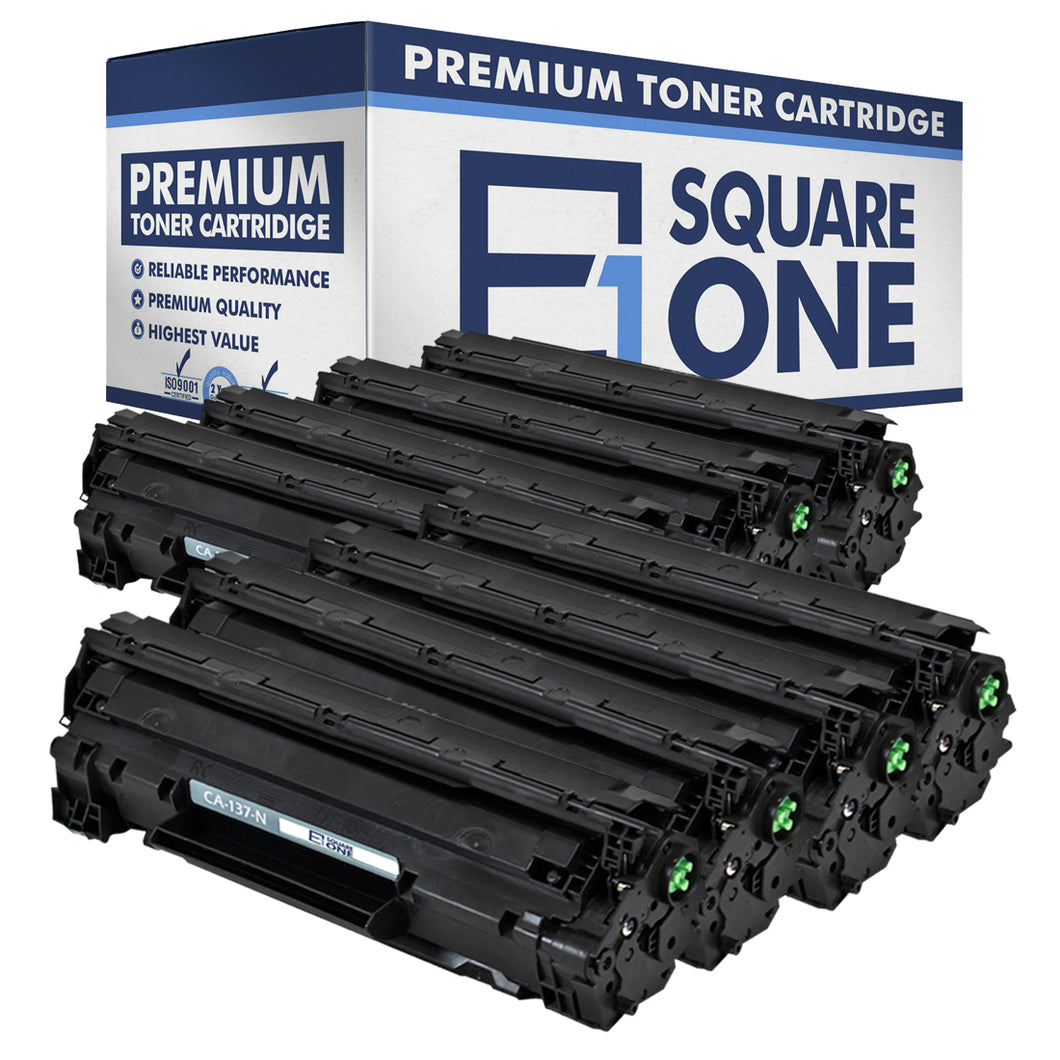 eSquareOne Compatible Toner Cartridge Replacement for Canon 137 9435B001AA (Black, 8-Pack)