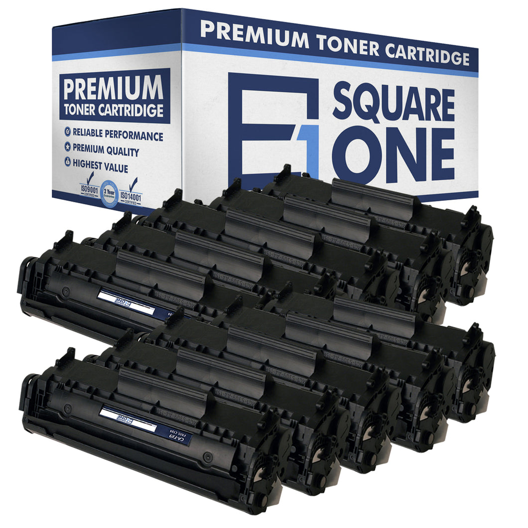eSquareOne Compatible Toner Cartridge Replacement for Canon 104 FX9 FX10 (Black, 10-Pack)