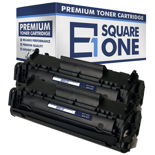 eSquareOne Compatible Toner Cartridge Replacement for Canon 104 FX9 FX10 (Black, 2-Pack)