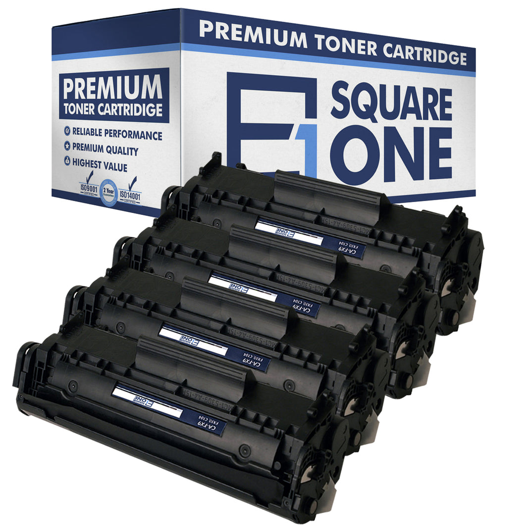eSquareOne Compatible Toner Cartridge Replacement for Canon 104 FX9 FX10 (Black, 4-Pack)