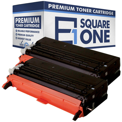 eSquareOne Compatible (High Yield) Toner Cartridge Replacement for DELL 330-1198 G486F (Black, 2-Pack)