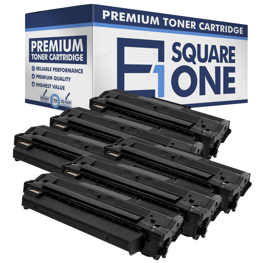 eSquareOne Compatible Toner Cartridge Replacement for DELL 331-7328 RWXNT DRYXV (Black, 6-Pack)