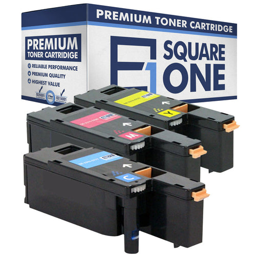 eSquareOne Compatible (High Yield) Toner Cartridge Replacement for DELL 331-0777 331-0780 331-0779 (Cyan, Magenta, Yellow)