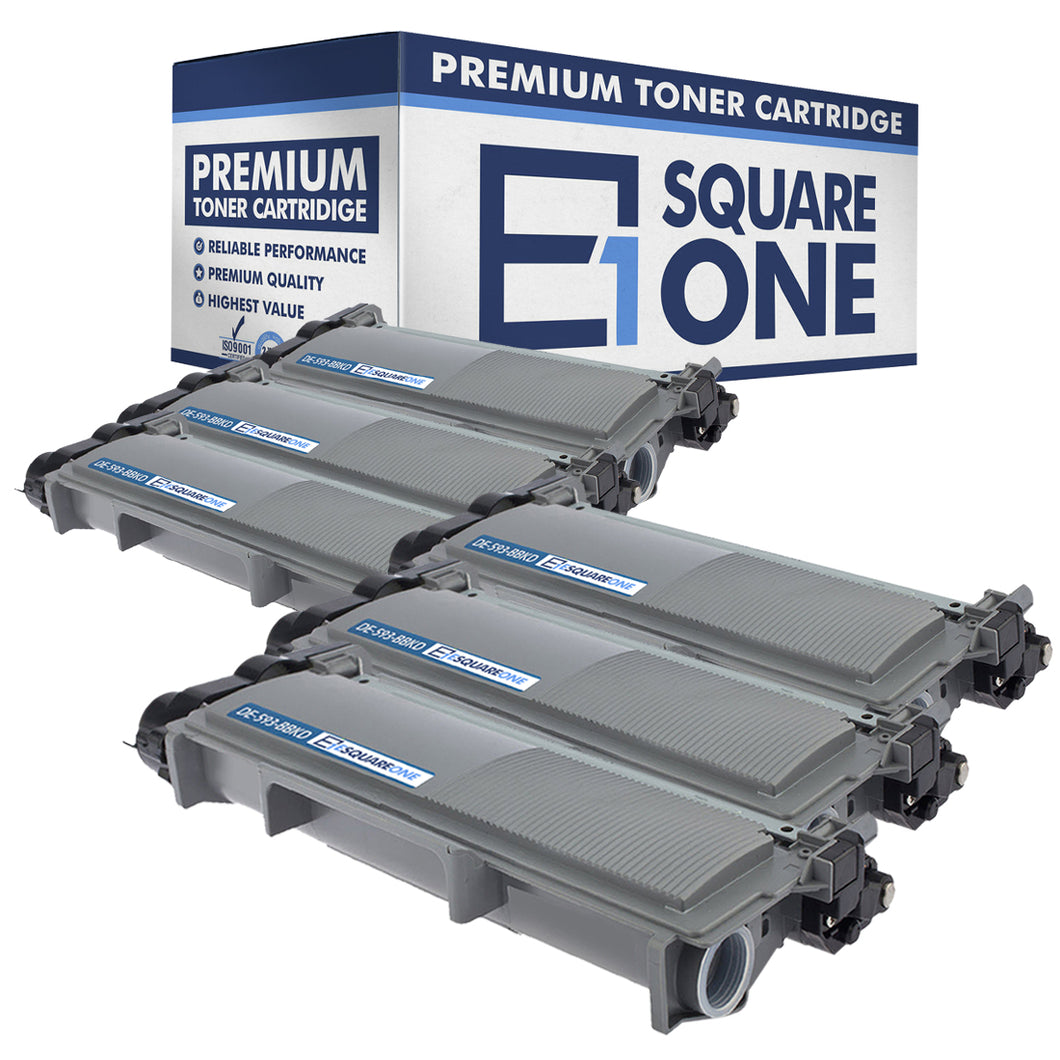 eSquareOne Compatible High Yield Toner Cartridge Replacement for DELL 593-BBKD PVTHG 593-BBKC 2RMPM (Black, 6-Pack)