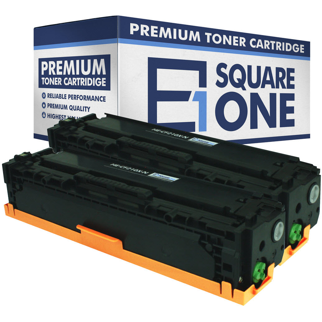 eSquareOne Compatible High Yield Toner Cartridge Replacement for HP 131X CF210X (Black, 2-Pack)