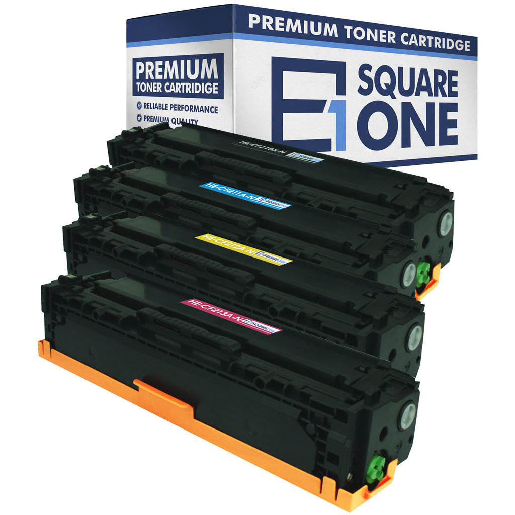 eSquareOne Compatible Toner Cartridge Set Replacement for HP 131X / 131A | CF210X CF211A CF212A CF213A (Black, Cyan, Yellow, Magenta)