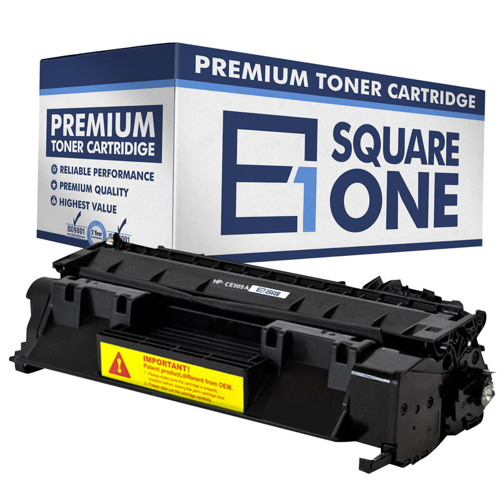 eSquareOne Compatible Toner Cartridge Replacement for HP 05A CE505A (Black, 1-Pack)