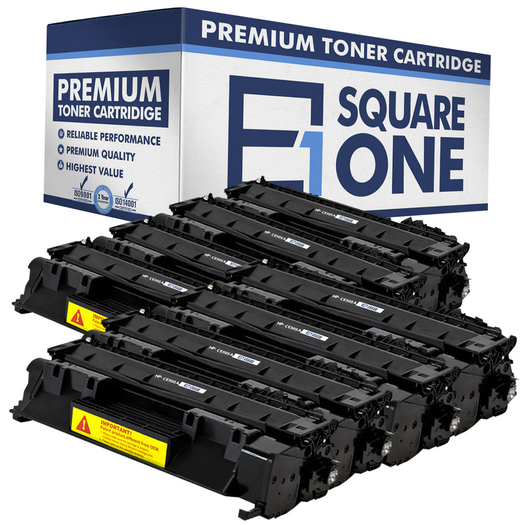 eSquareOne Compatible Toner Cartridge Replacement for HP 05A CE505A (Black, 8-Pack)