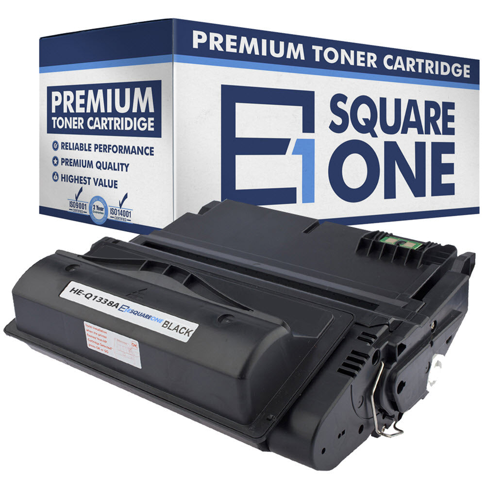 eSquareOne Compatible Toner Cartridge Replacement for HP 38A Q1338A | 42A Q5942A (Black, 1-Pack)