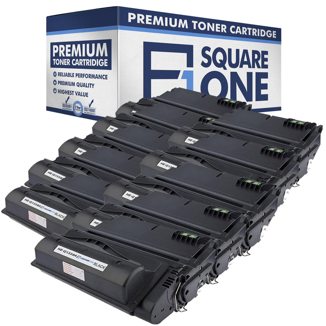eSquareOne Compatible Toner Cartridge Replacement for HP 38A Q1338A | 42A Q5942A (Black, 10-Pack)