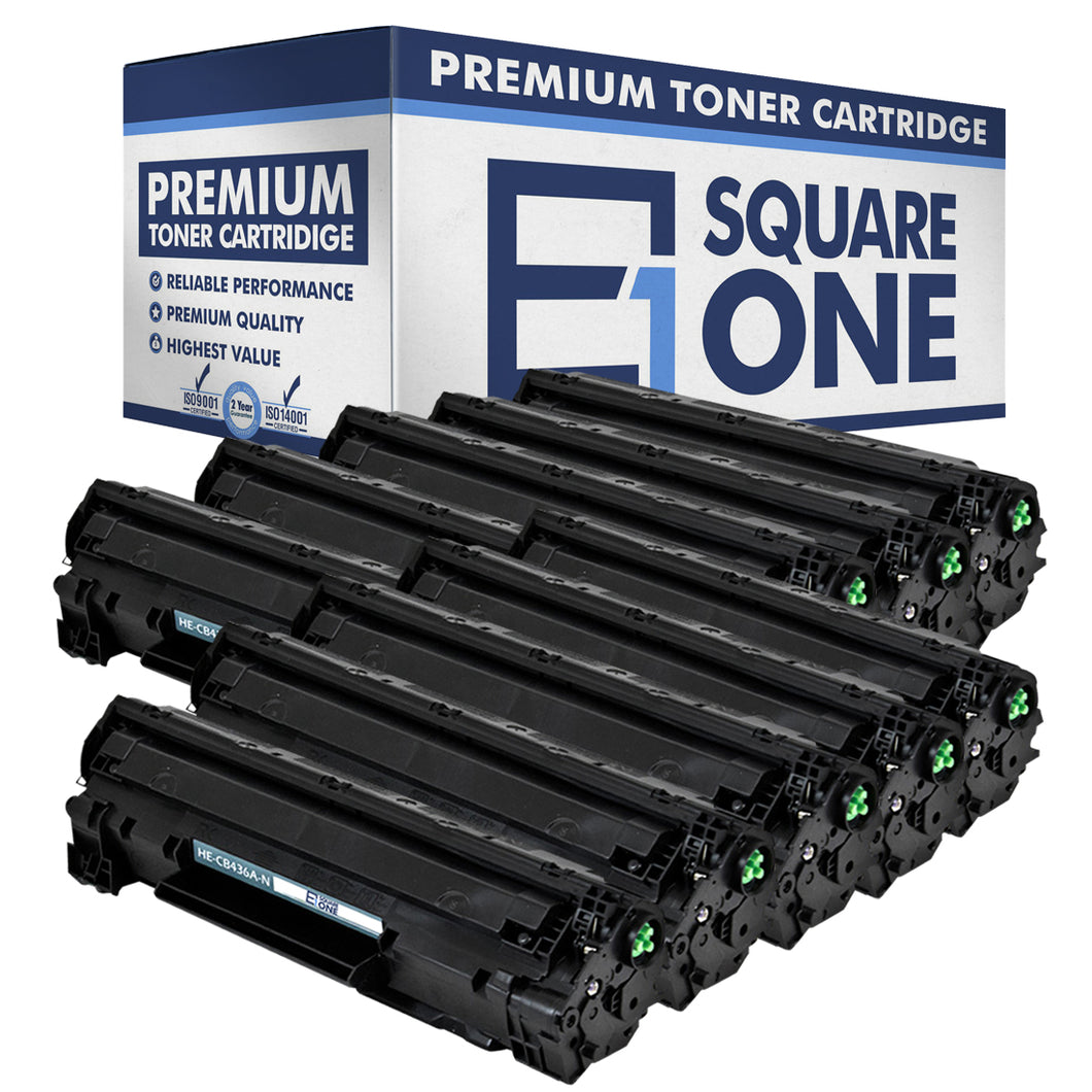 eSquareOne Compatible Toner Cartridge Replacement for HP 36A CB436A (Black, 10-Pack)